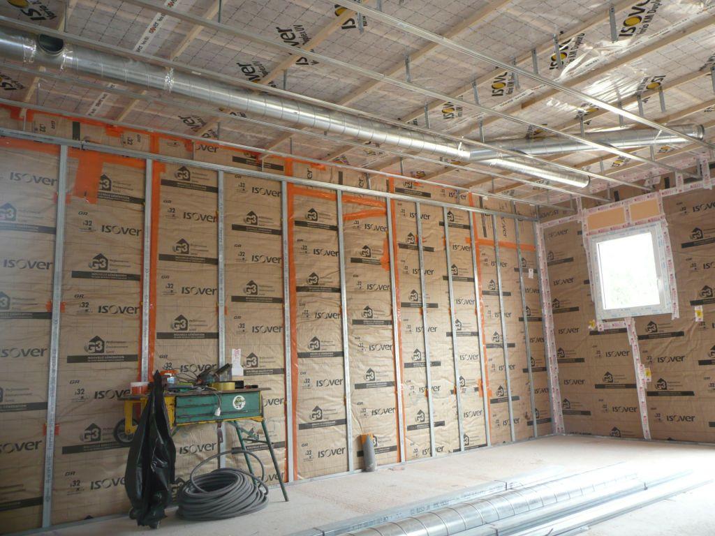 Réseau ventilation coté cuisine et cellier
