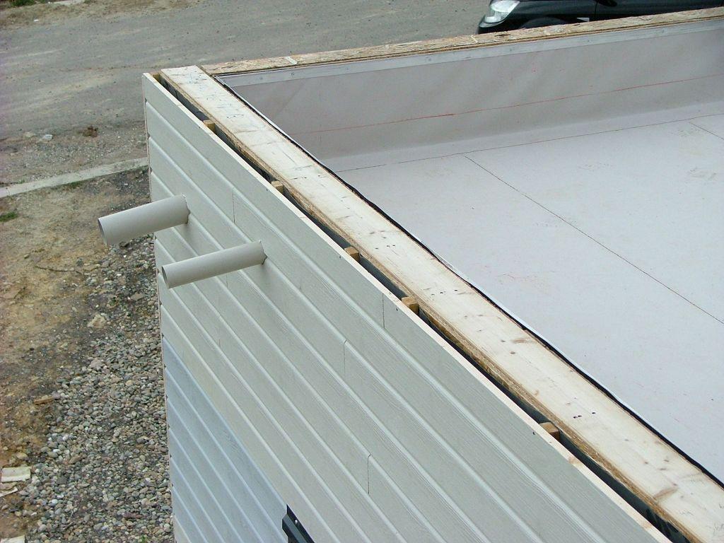 Evacuation des eaux du toit