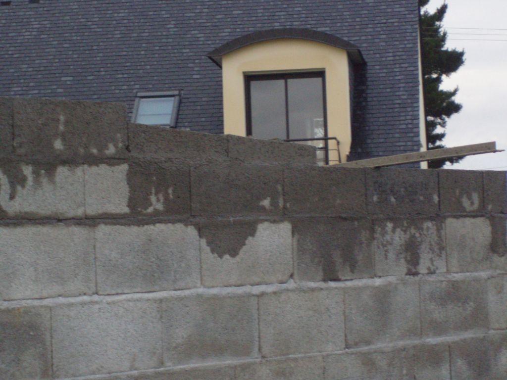 Fin de ma onnerie de l 39 abri de jardin toit plat la charpente et la couverture de l 39 abri toit - Abri jardin agglo ...