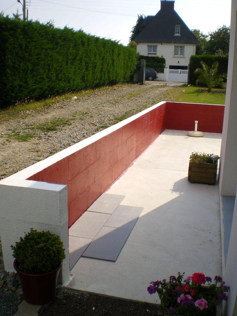pose du carrelage sur terrasse