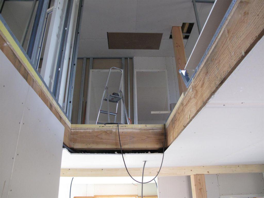 vue de la trémie, avec les chambres qui se dessinent petit à petit à l'étage