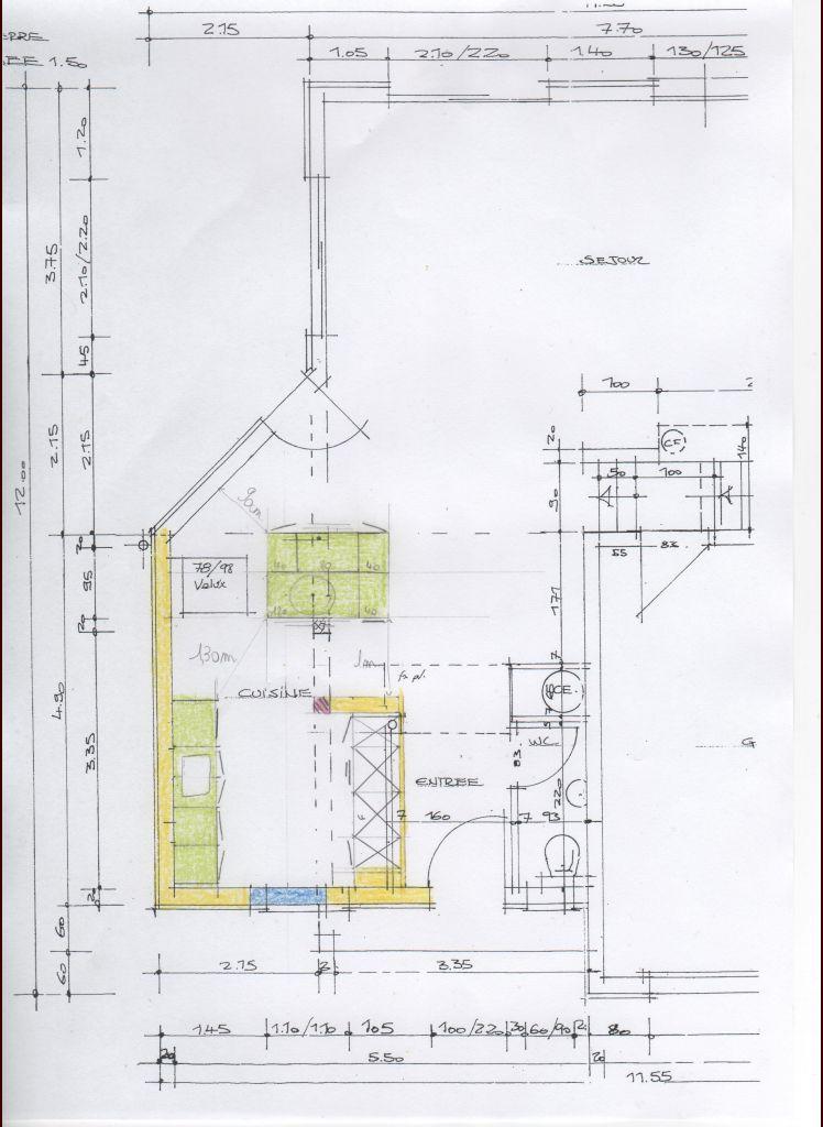 voici le plan de la cuisine que nous avons imaginé