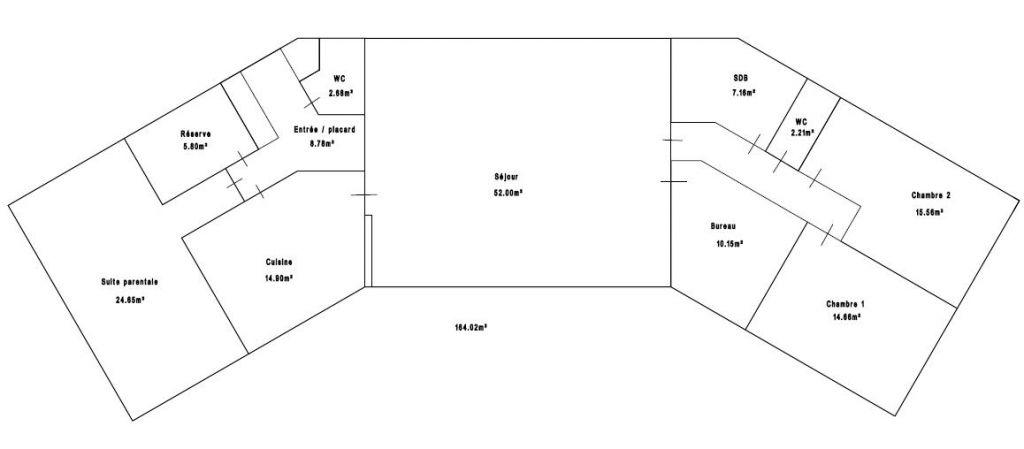plan maison plain pieds en u ouvert 41 messages. Black Bedroom Furniture Sets. Home Design Ideas