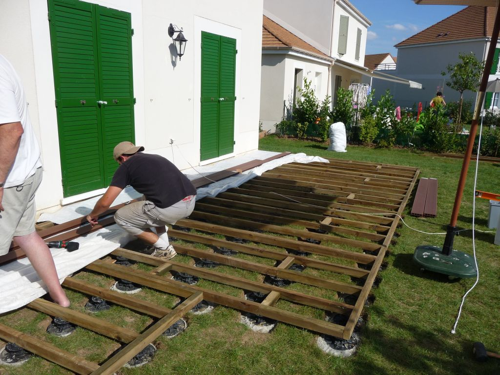 terrasse composite sur plot pvc - 6 messages - Comment Poser Une Terrasse En Composite Sur Plots
