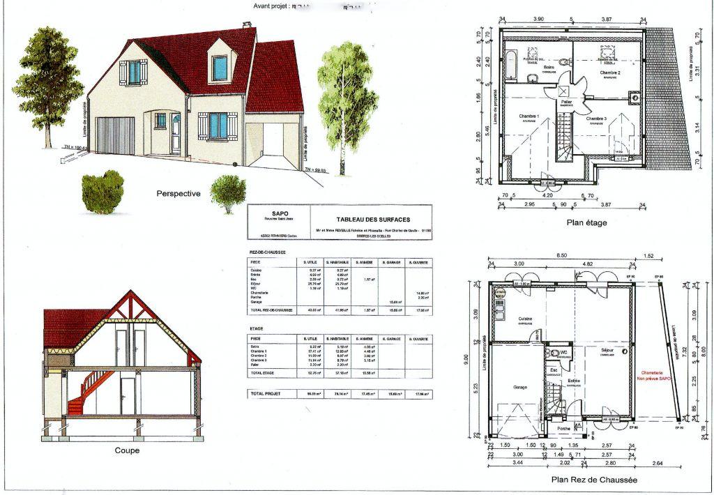 Plans de notre 1er projet avec Les maisons Clairval