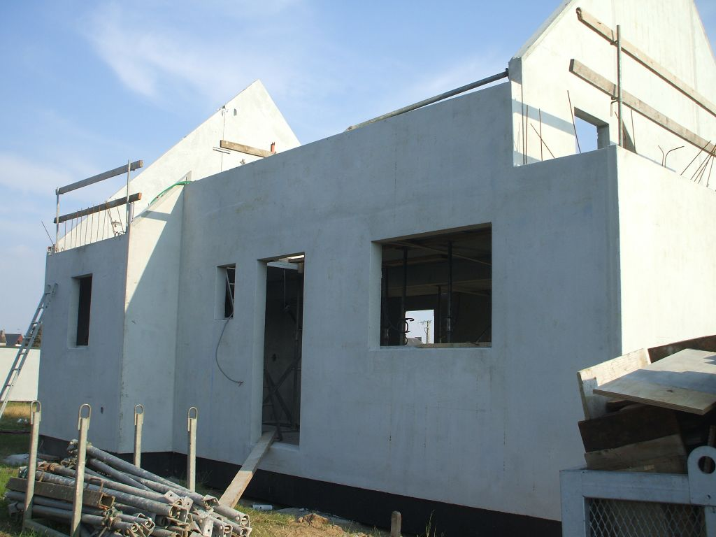 La façade nord.