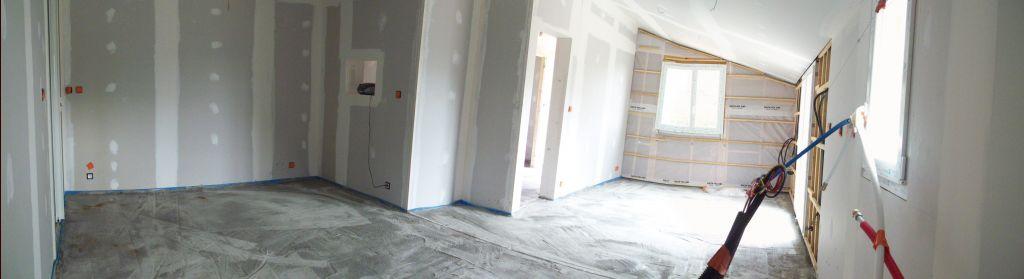 3 sept 2011 chape sur le plancher chauffant pr paration pour le consuel septembre 2011. Black Bedroom Furniture Sets. Home Design Ideas