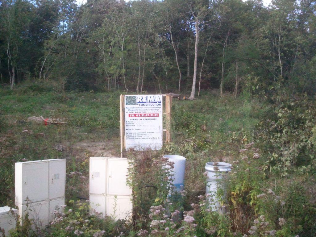 D boisement de la parcelle etude de sol pose du panneau de chantier cond - Forum permis de construire ...
