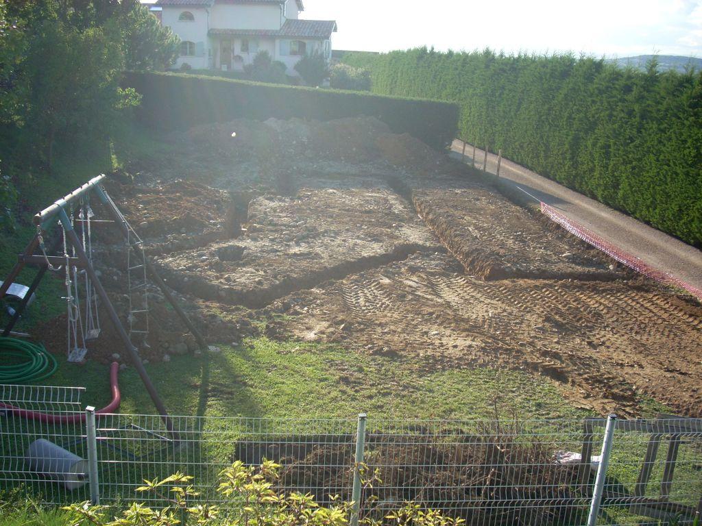 Vue générale des fouilles.