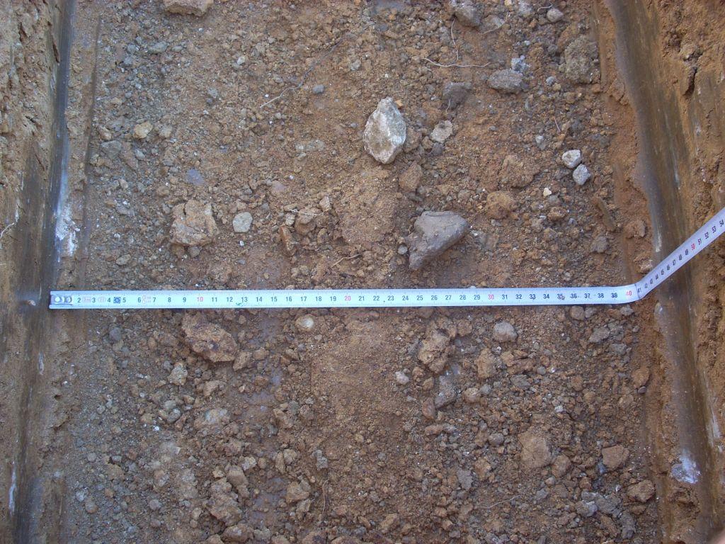 Fouilles fondation 40X50 cm.