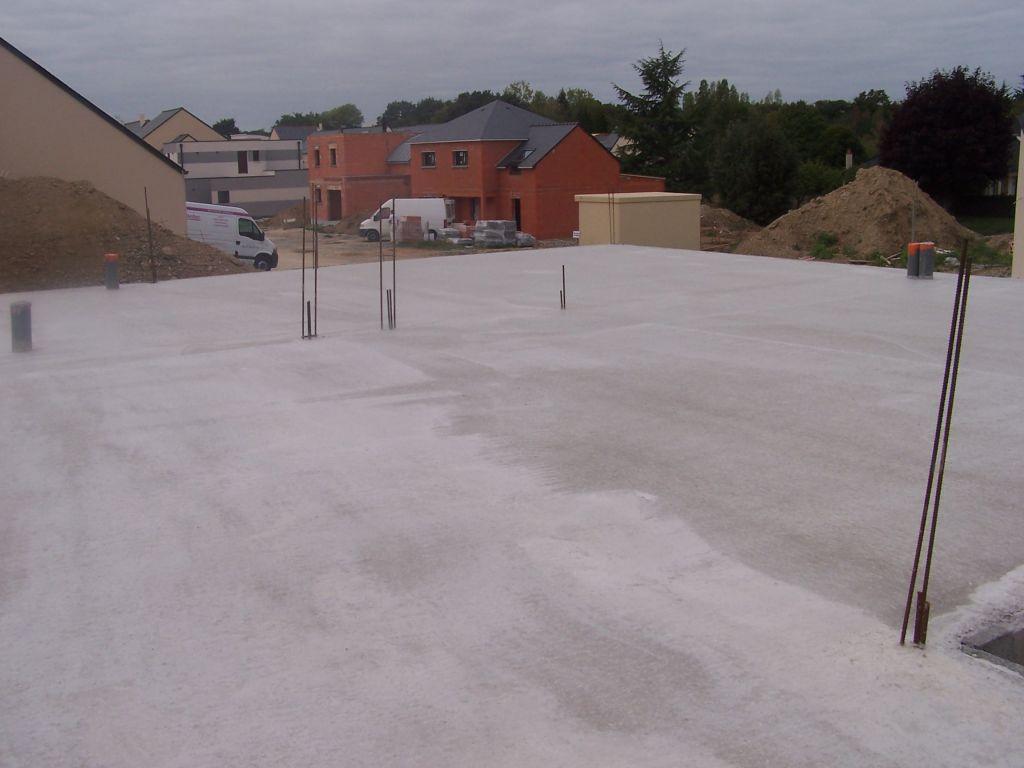 Dalle b ton el vation des murs dalle de l 39 tage coul e - Temps de sechage beton ...