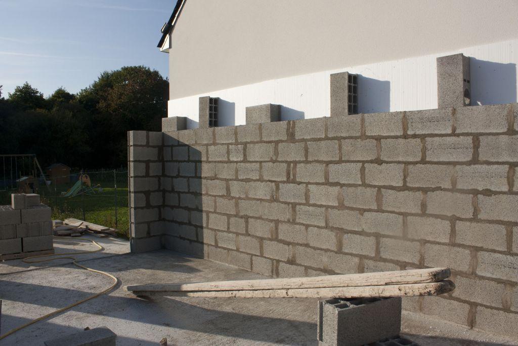 Mur mitoyen avec isolant polystyrene