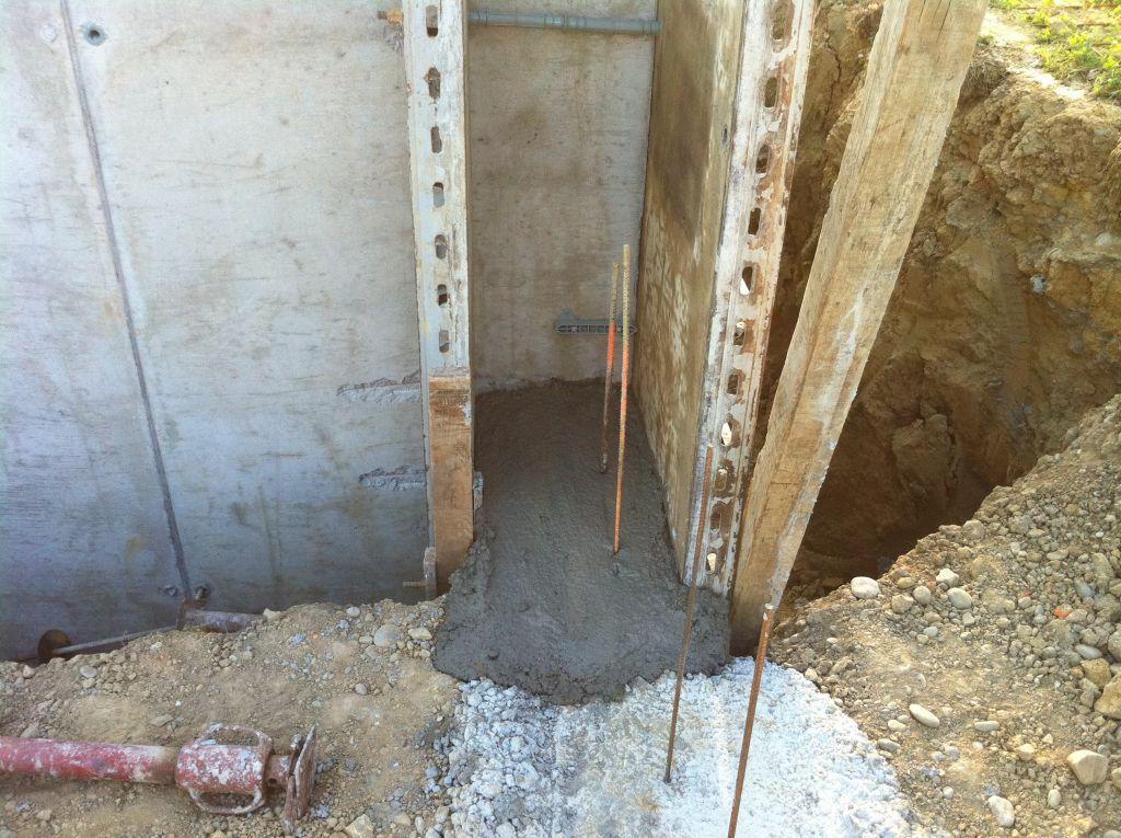 Murs de la cave : reprise de la fondation du vide sanitaire entre garage et cave