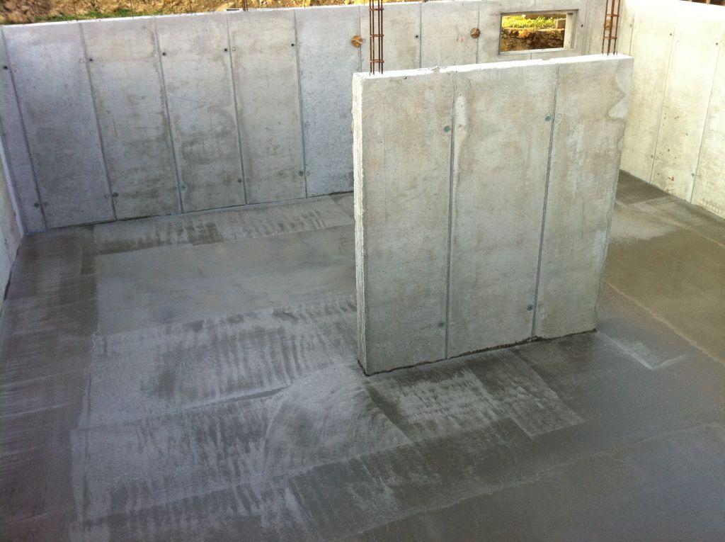 Murs du garage : la dalle du sous-sol