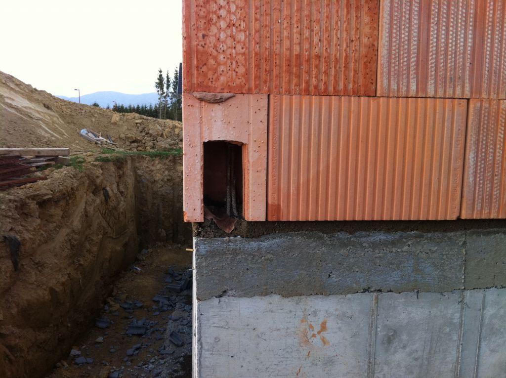 Elévation des murs du RDC :