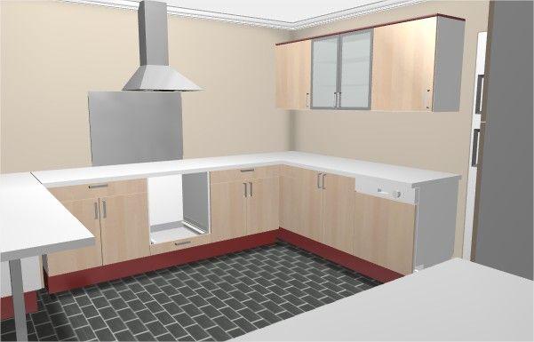 """Plan fait depuis le site ikea """"cuisine 3D"""""""
