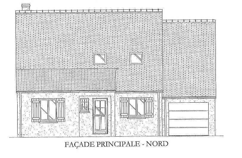 Vue de la façade nord: ouvertures réduites au maximum!