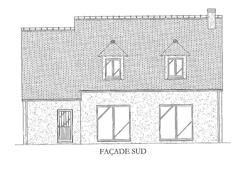 Vue de la face sud (coté jardin): 2 baies de 200cm   les lucarnes pour profiter de la vue sur les vignes!
