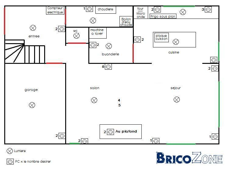 plan tableau  u00e9lectrique maison rx33