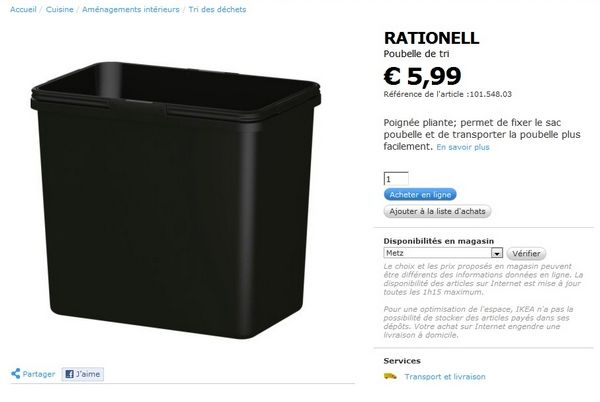 top recherche poubelle encastrable l sur rail with poubelle sur rail ikea. Black Bedroom Furniture Sets. Home Design Ideas