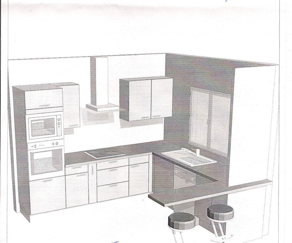 Id e cuisine poncage et sous couche debut de la for Sous couche meuble cuisine
