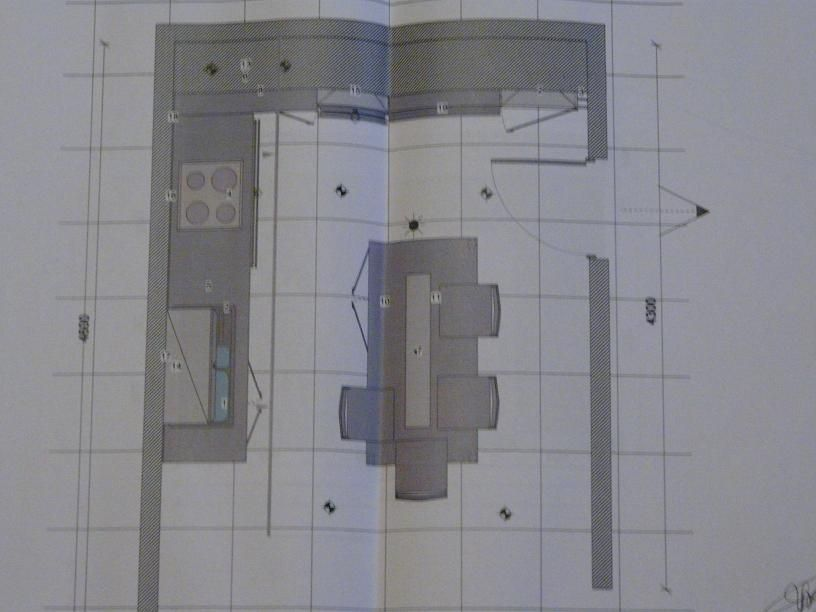 Implantation de la cuisine vue de haut