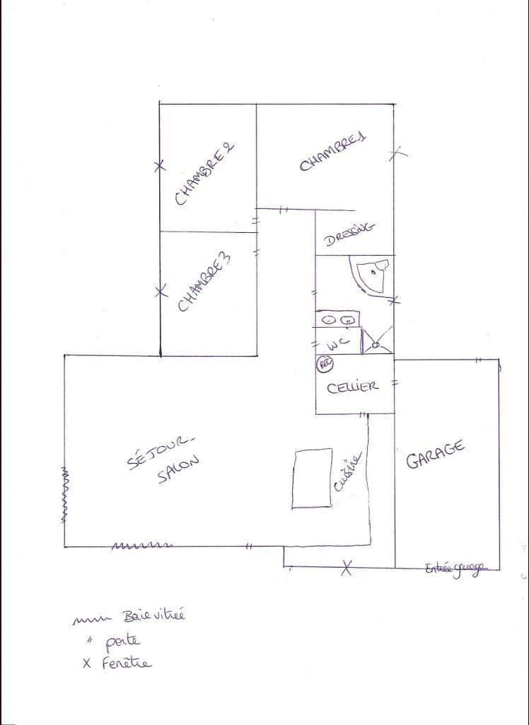 Plan plus détaillé de la maison