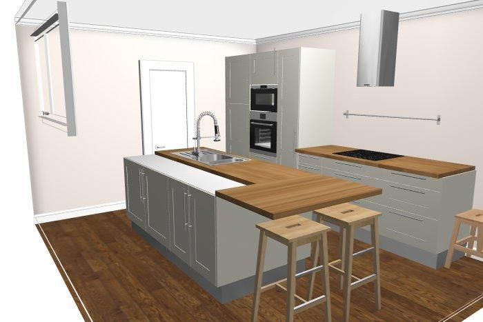 Notre maison par l 39 atelier des 3 vall es st jacques sur - Jambage cuisine ...