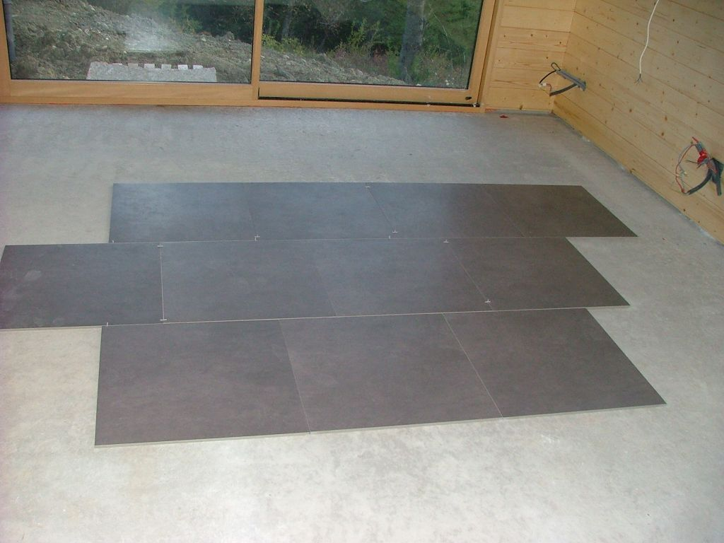 S chage de la chape pose du lambris suite oberdorf for Carrelage 60x60 pose droite ou diagonale