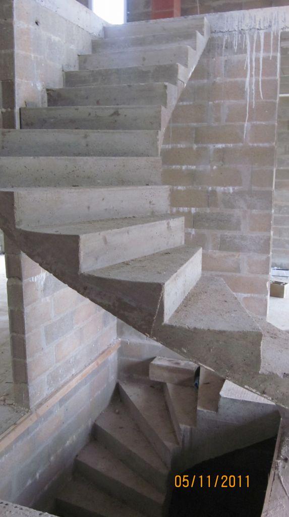 Platre Sous Voute Sur Tranche Escalier Voute Balance Beton