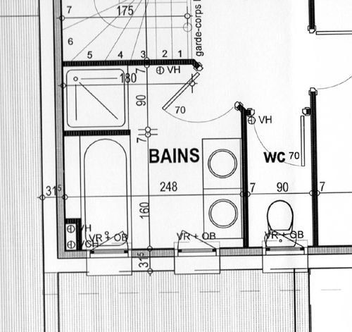 agencement sdb. Black Bedroom Furniture Sets. Home Design Ideas
