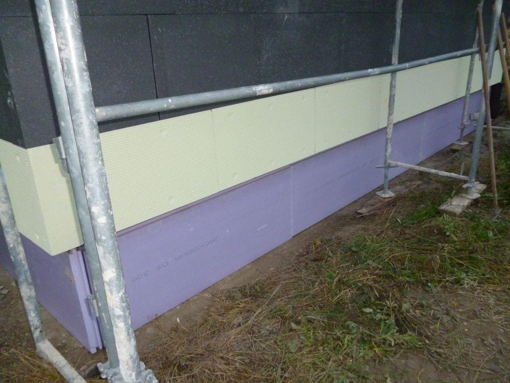 Isolation du soubassement du garage avec du PSE Jackodur 60mm