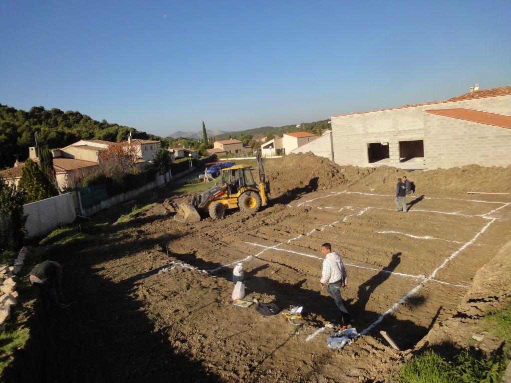 Implantation avant fouilles