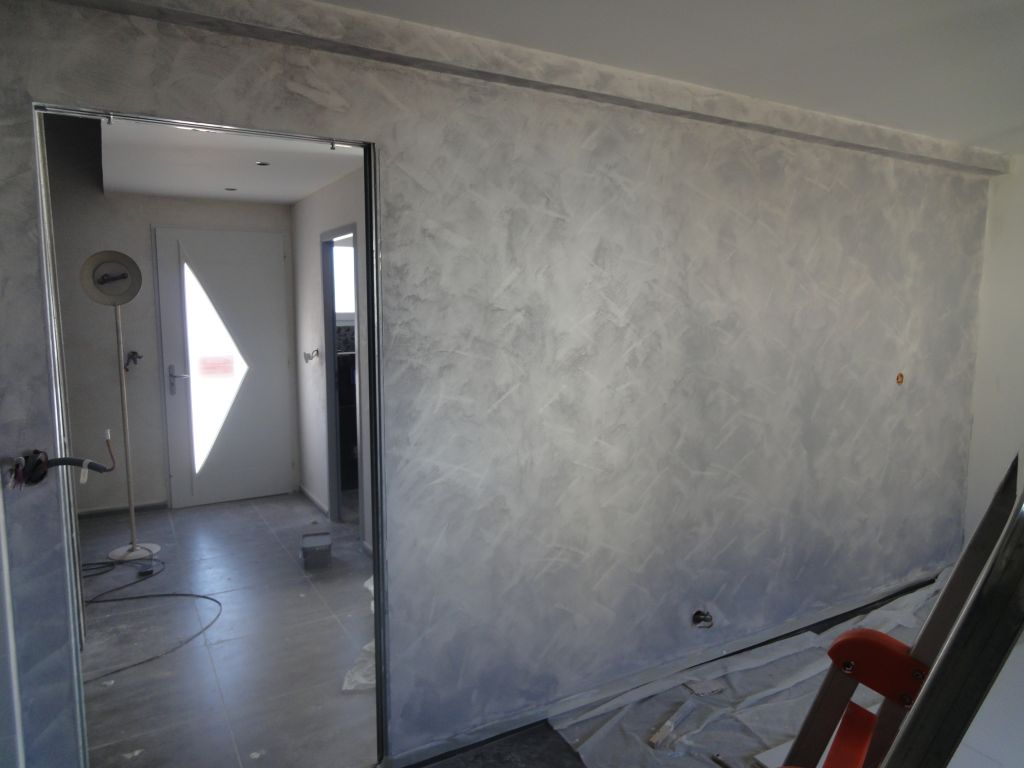 peinture sablée chambre