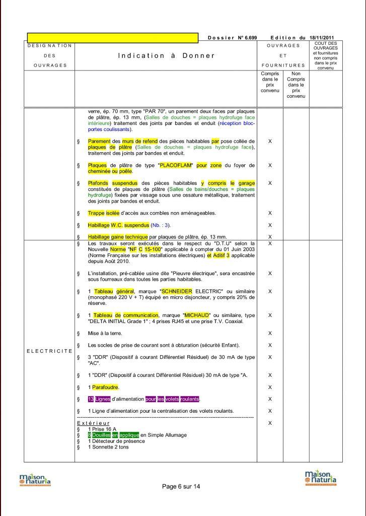 Avis sur le descriptif des travaux 6 messages for Avis sur la maison des travaux