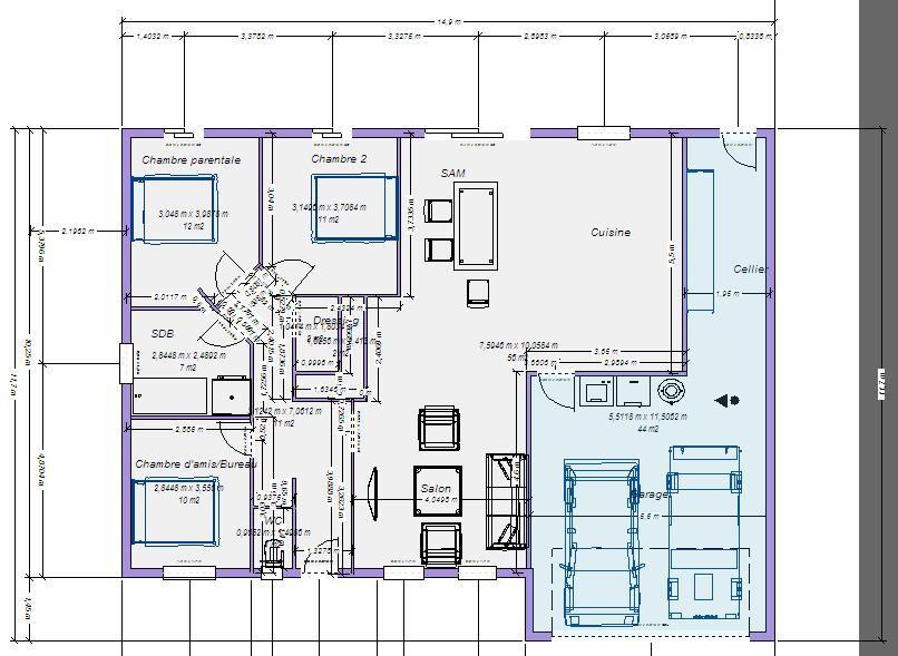 Trendy pu avancer dans notre projet et dans les plans de for Cout maison plain pied 100m2
