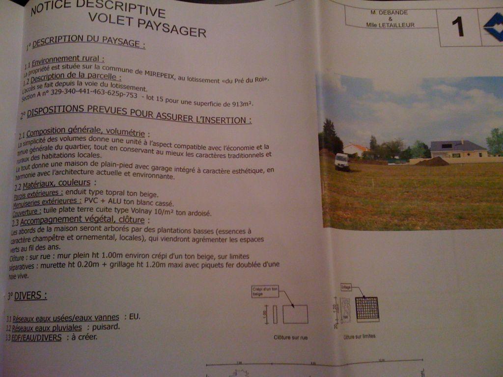 Obligation de d claration pr alable pour un mur de cl ture for Notice descriptive permis de construire