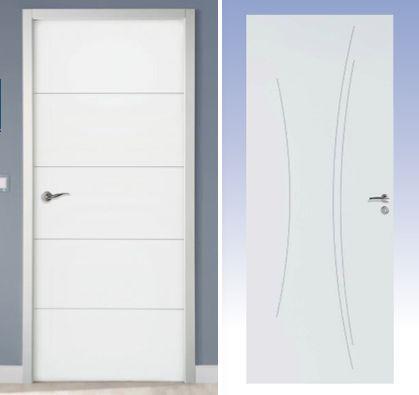 Idées portes pour l'étage (ou aussi rdc ?) : portes Righini Ketch et/ou Kaori à peindre...