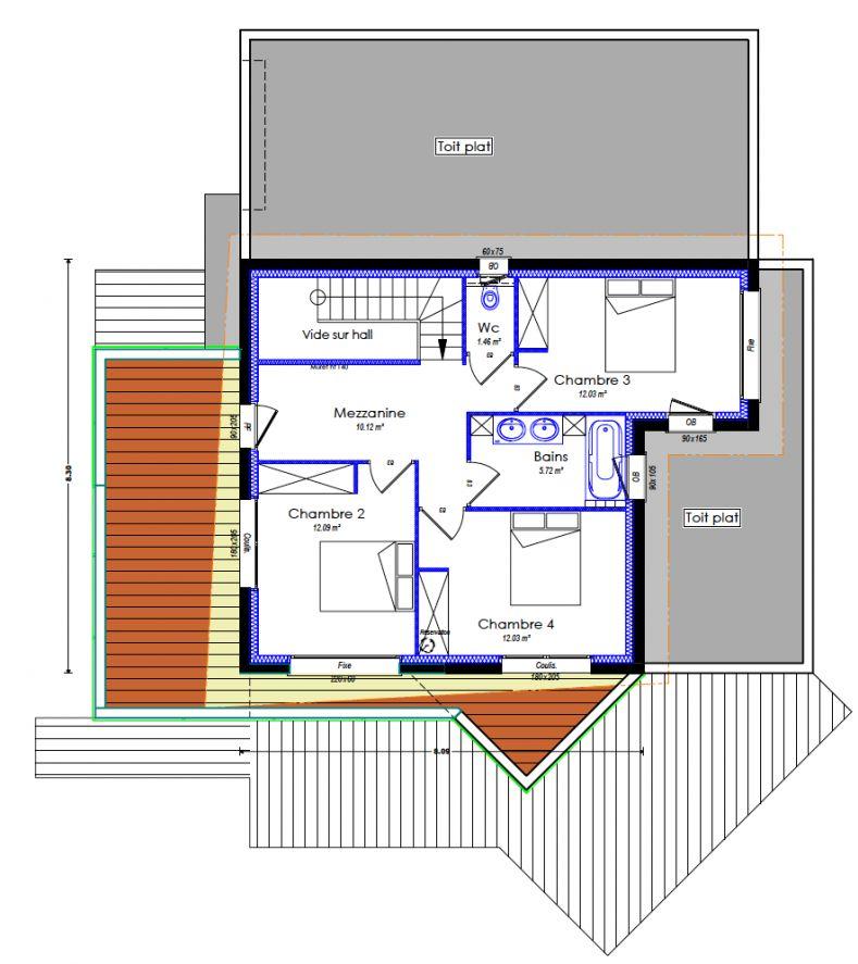 Version définitive de l'étage.