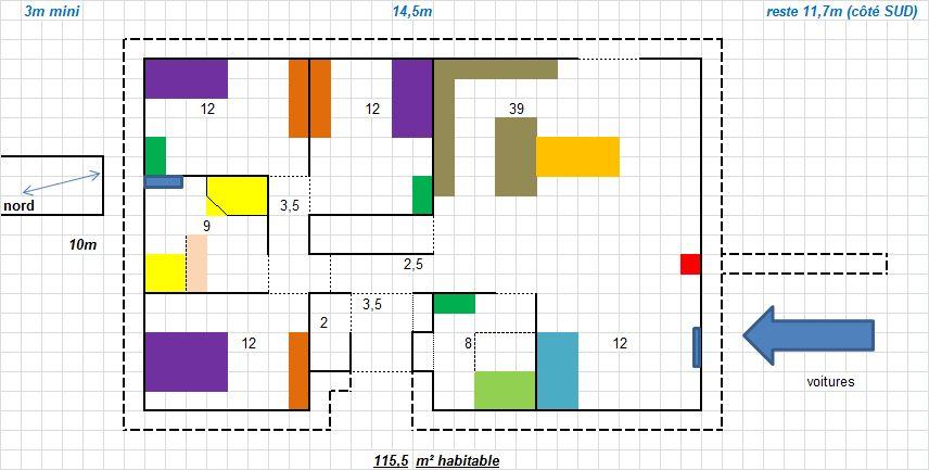 plain pied 115.5m² habitable