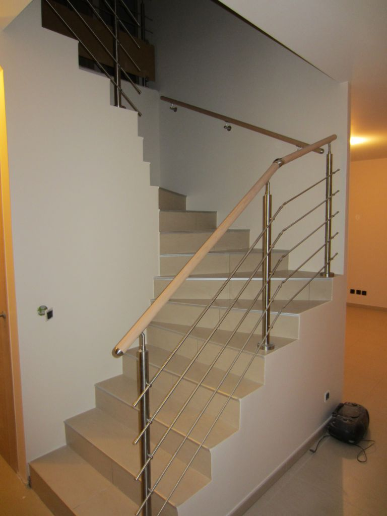 Rampe d'escalier posée