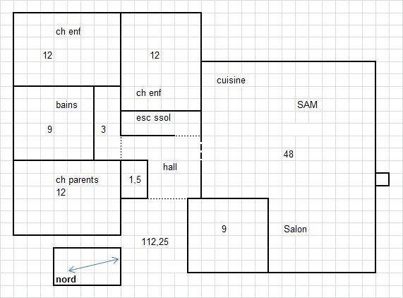 plain pied 112.25m² (9 dec)