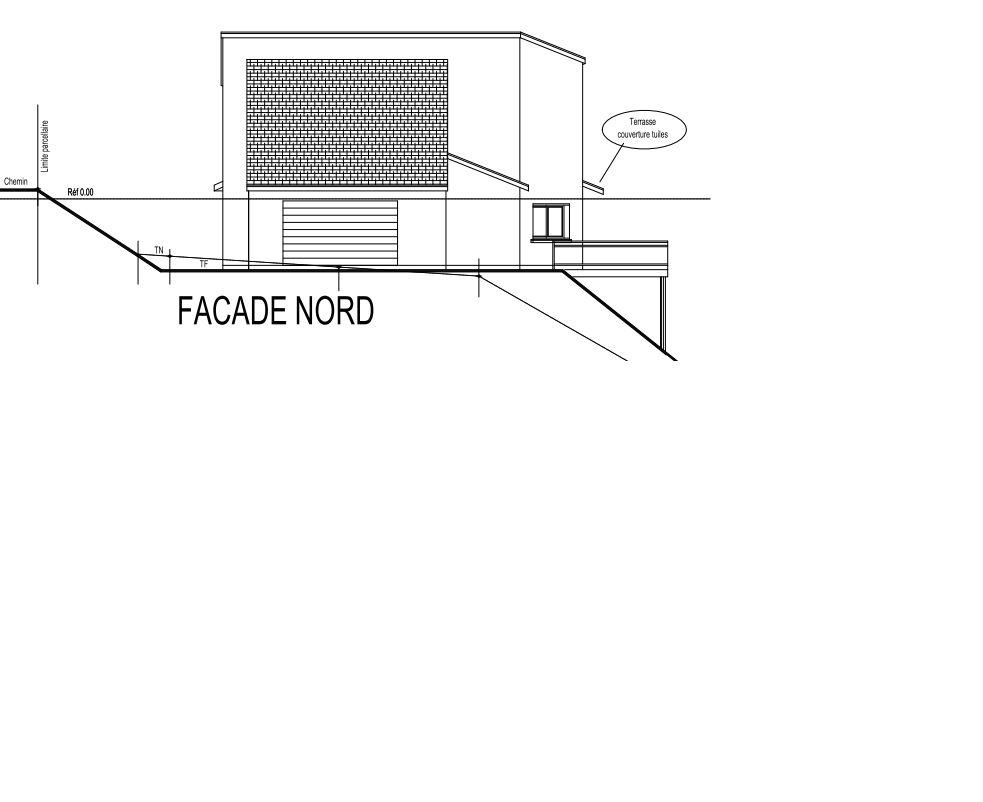 Schéma façade nord