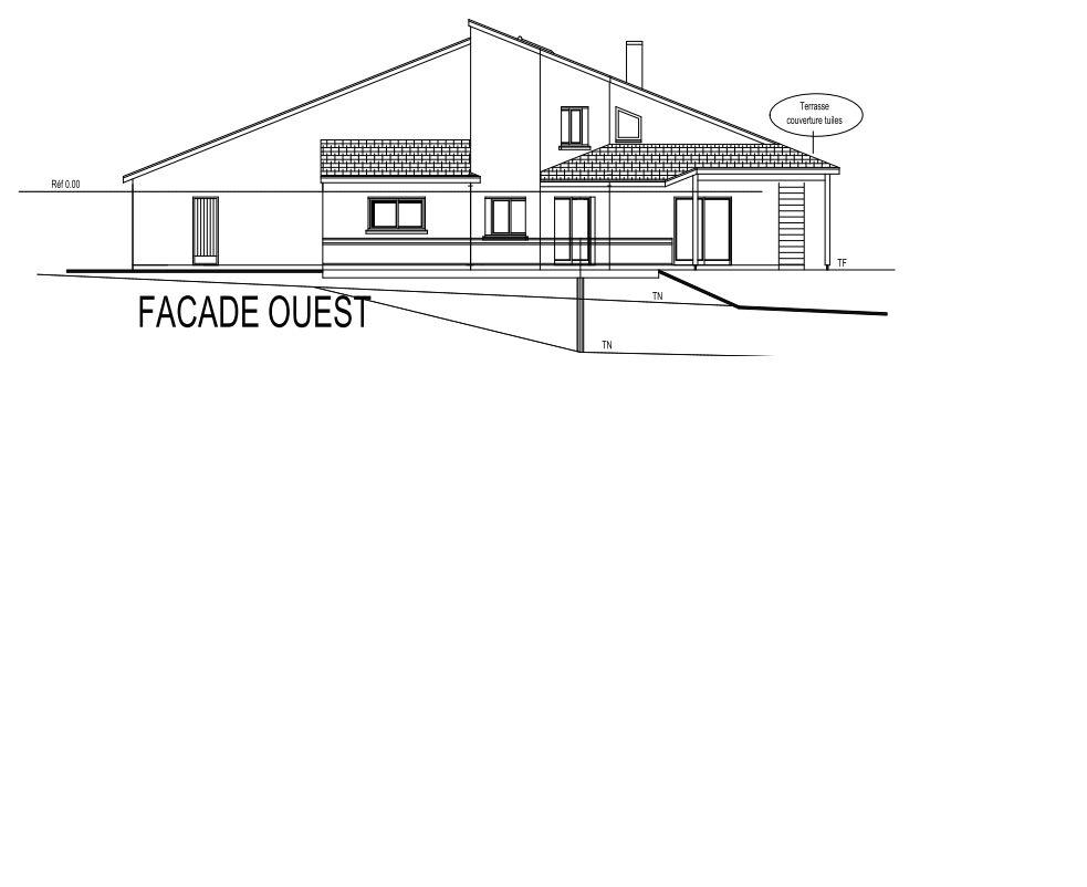 Schéma façade ouest