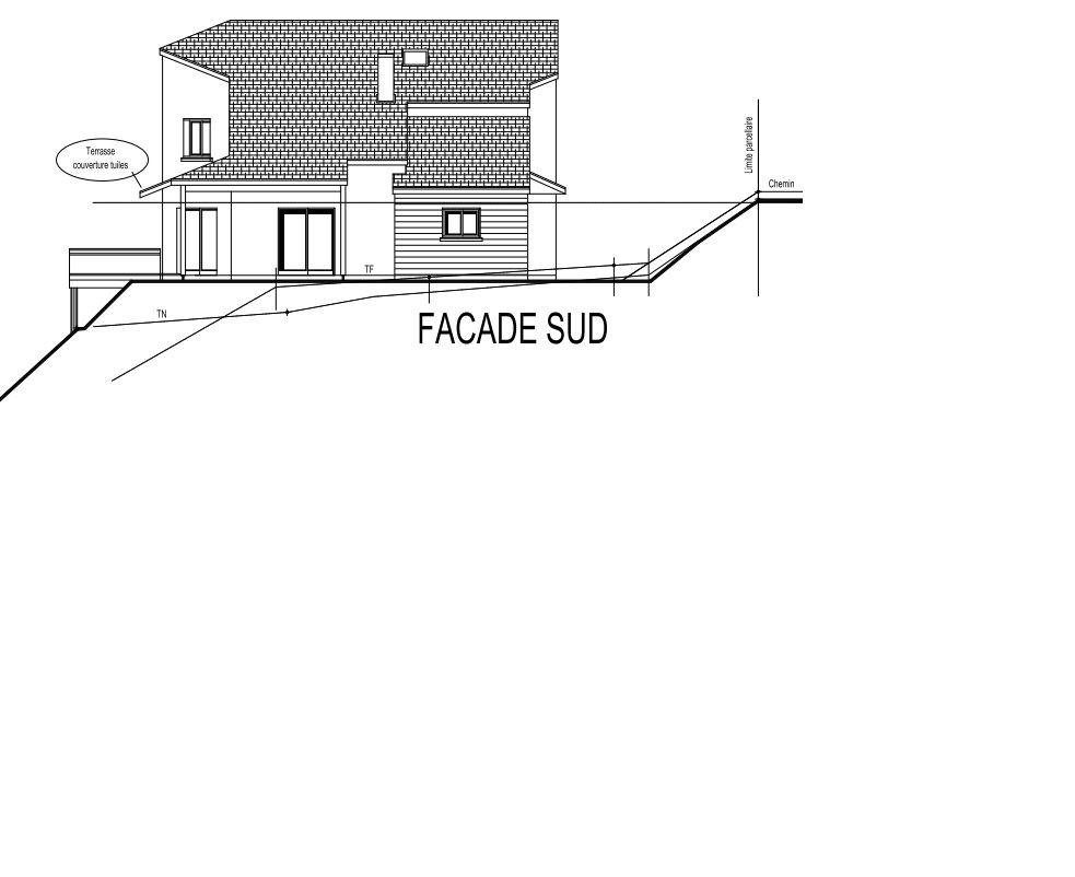 Schéma façade sud