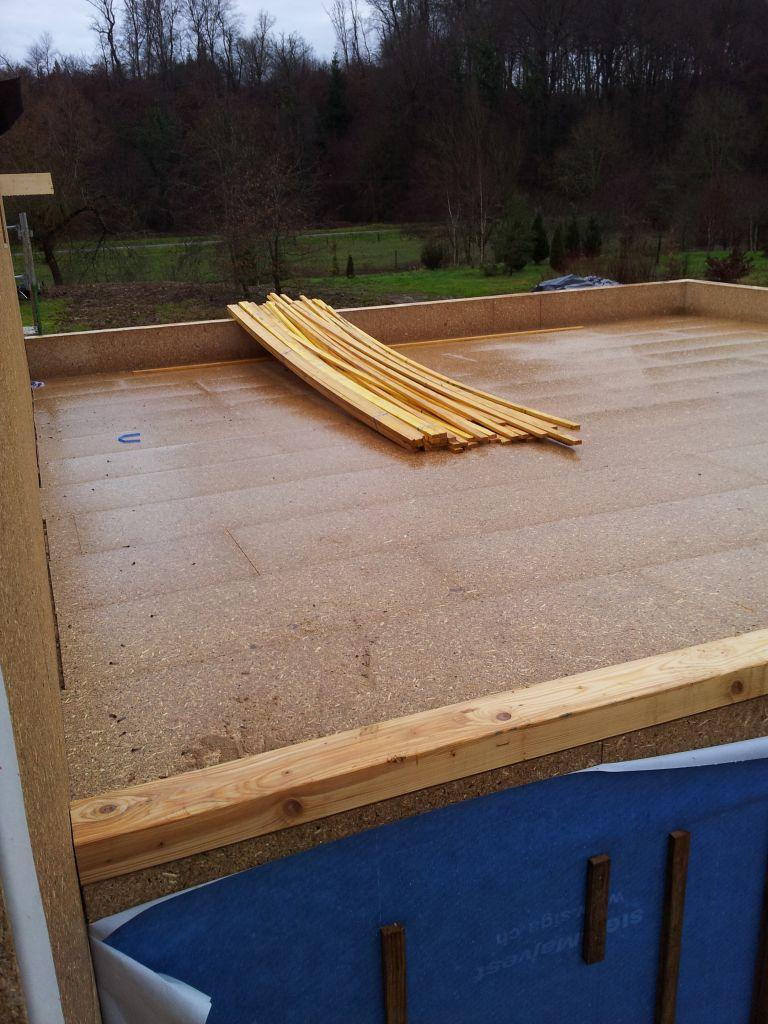 Le toit du garage