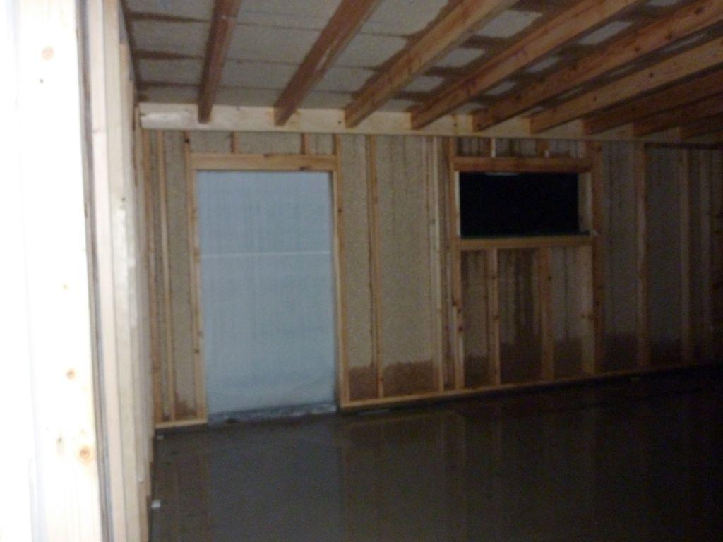 le garage sous la pluie....espérons qu'il n'y aura pas de conséquences à long terme