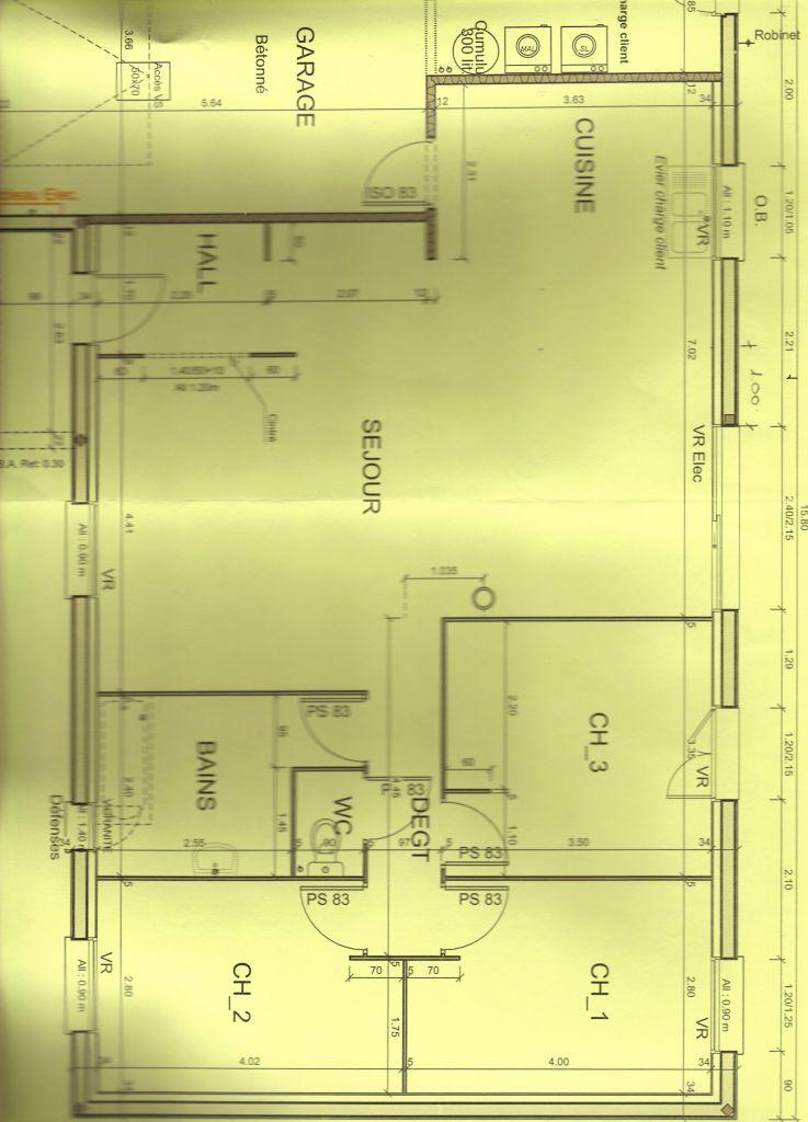 Avis plan maison 100m2 avec garage 9 messages for Plan de maison 100m2 avec garage