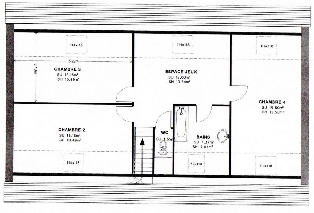 Plan quasi-définitif de notre étage