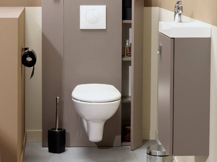 Meuble pour wc suspendu id es de for Wc suspendu decoration